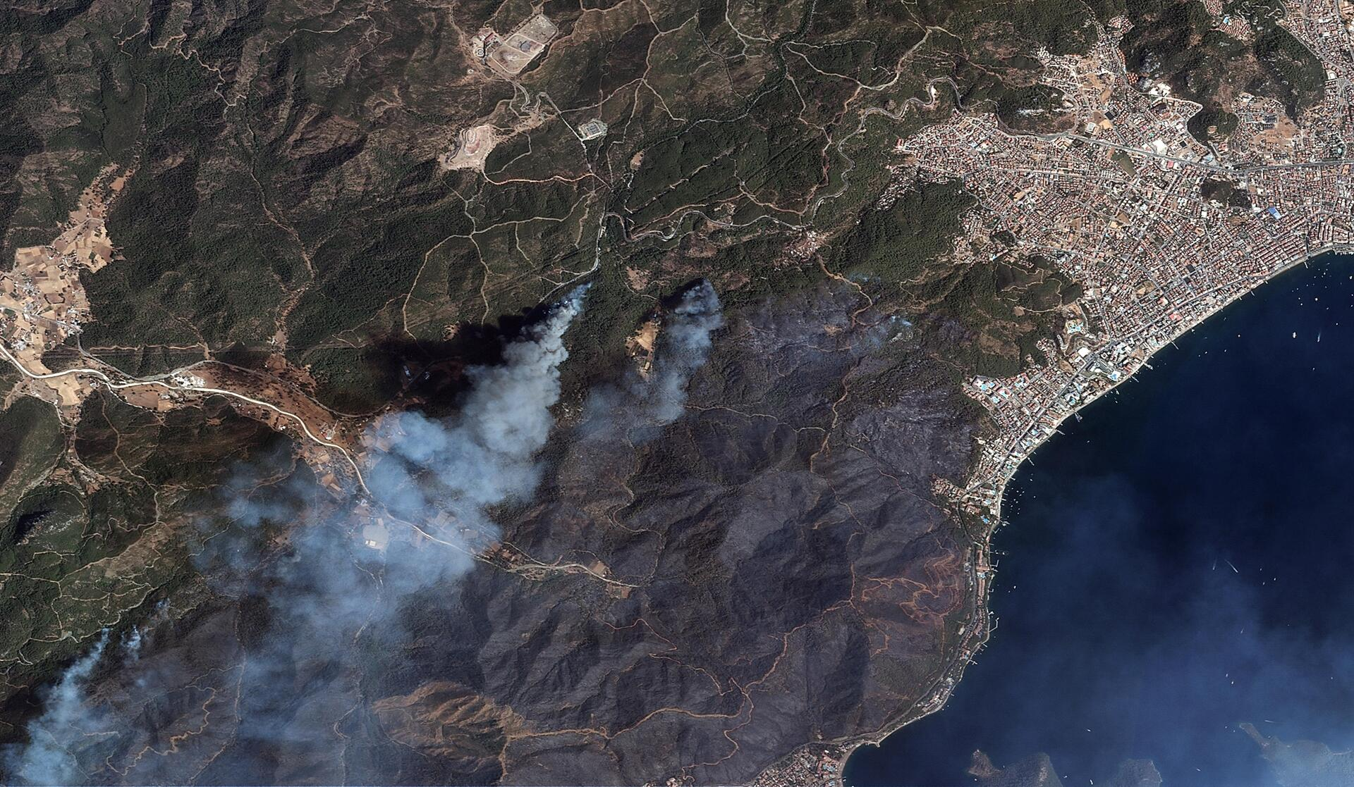 Des satellites turcs surveillent les dégâts depuis l'espace