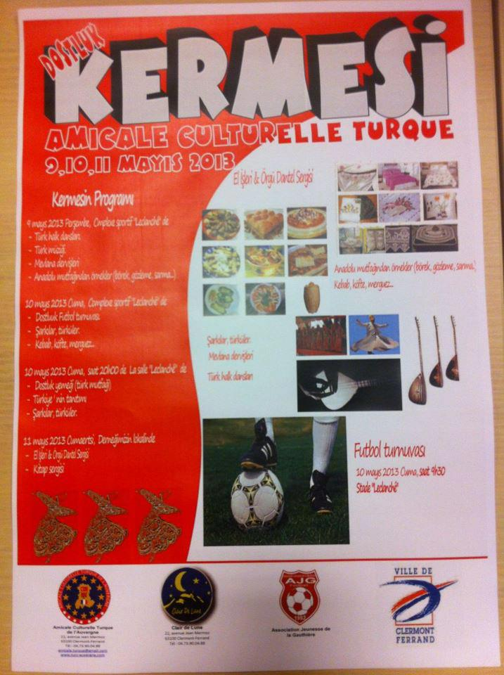 9 Mai 2013 : Grande Kermesse de l'Association Amicale Culturelle Turque de l'Auvergne