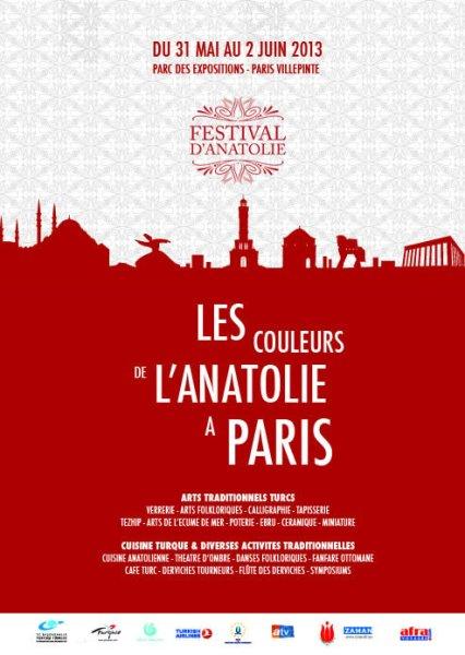 31 mai - 2 juin 2013 : Festival d'Anatolie, Parc des Expositions de Villepinte