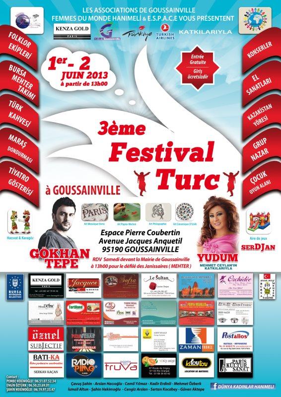 1er et 2 juin 2013 - 3ème Festival turc de Goussainville