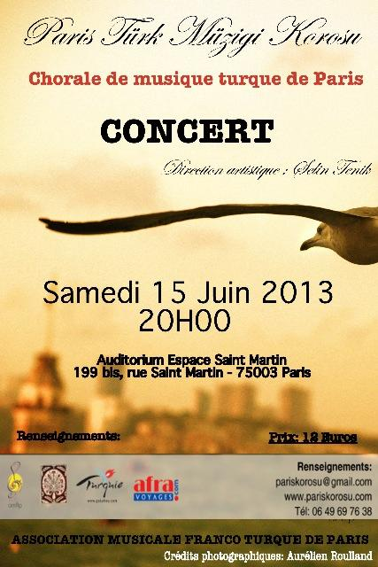 15 Juin 2013 / Paris / Concert de chorale de musique turque