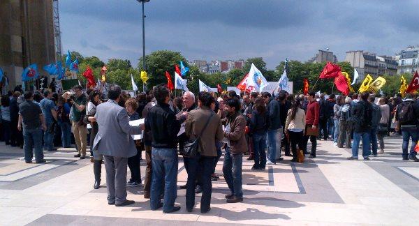 Rassemblement de soutien à Paris aux manifestations #OccupyGezi en Turquie