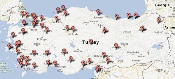 Manifestations en Turquie : la carte