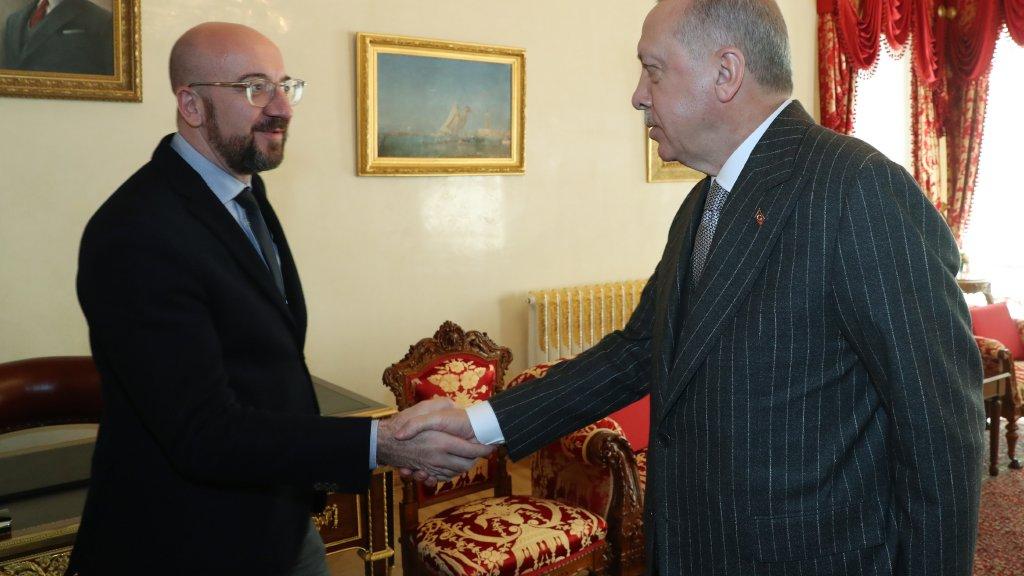 Charles Michel rencontre Erdogan à Istanbul