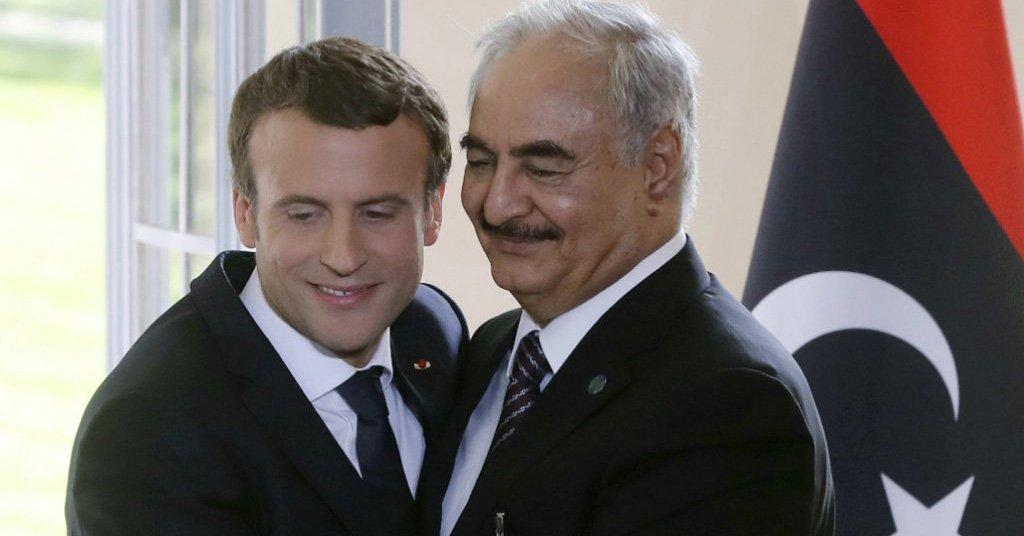Emmanuel Macron invite Khalifa Haftar en France