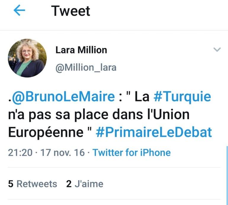 Le Centre Culturel Turc de Mulhouse interpelle la candidate de LREM Lara Millon