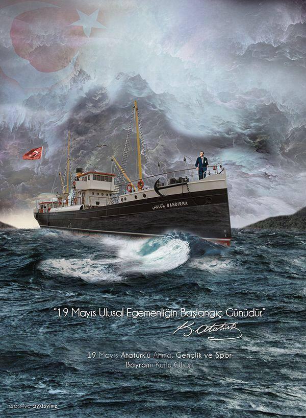 19 mai 2020 : Nuit du destin et 101ème anniversaire du débarquement de Mustafa Kemal ATATÜRK à Samsun
