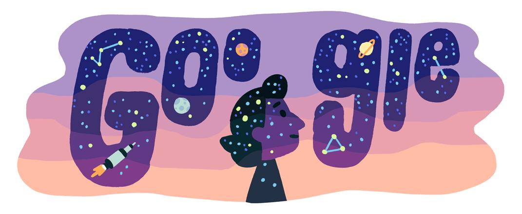 Google doodle célèbre l'astrophysicienne turque Dilhan Eryurt