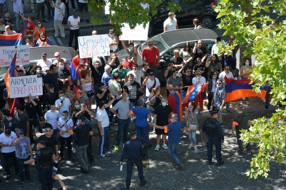 Actes de vandalisme commis à l'Ambassade de la République d'Azerbaïdjan en République française