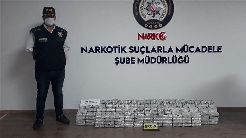 La police saisit un record de 195 kg d'héroïne dans l'est de la Turquie