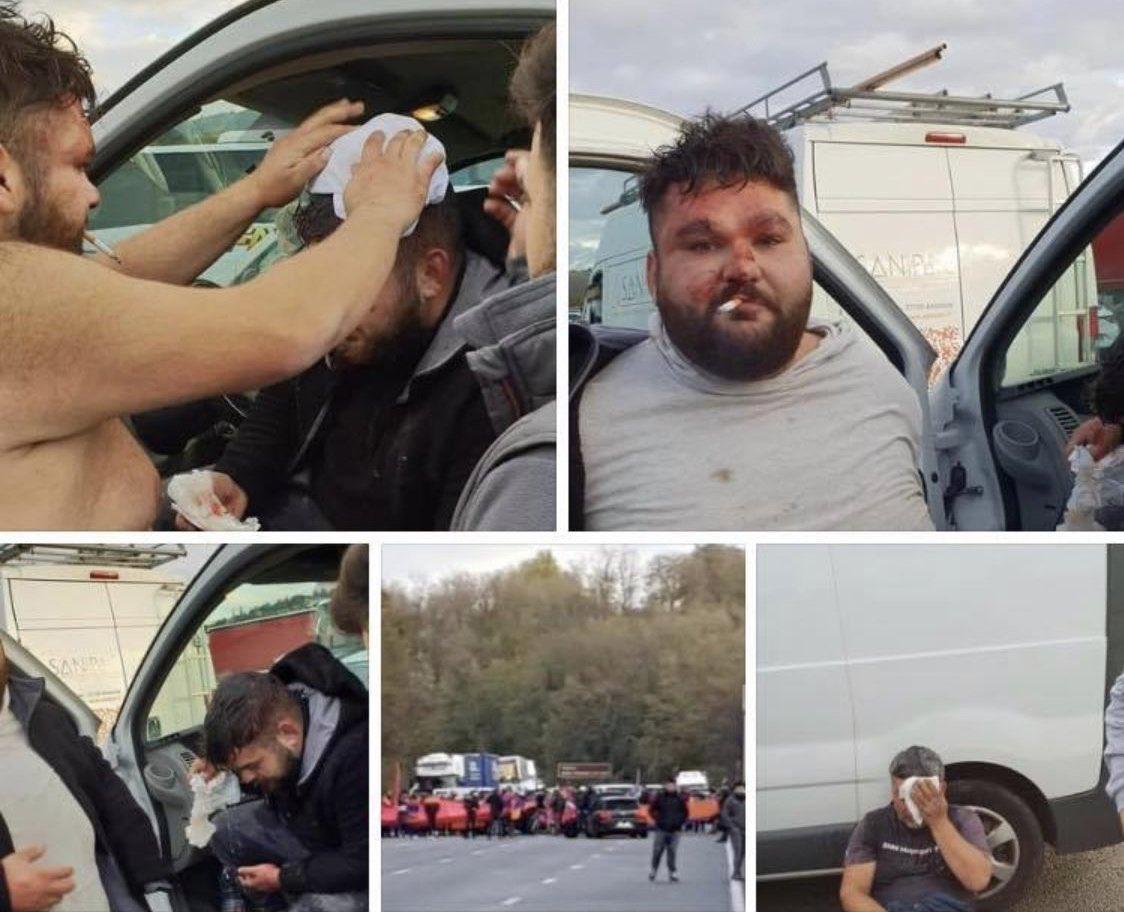 Les extrémistes arméniens bloque l'autoroute et s'en prennent aux français d'origine turque