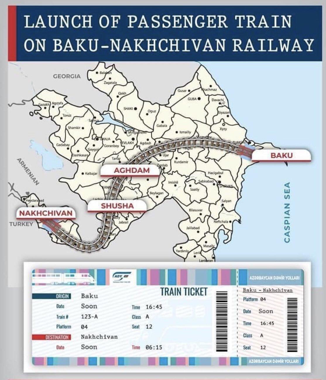 Les travaux préliminaire concernant la ligne de chemin de fer Baku Nakhchivan ont débutés