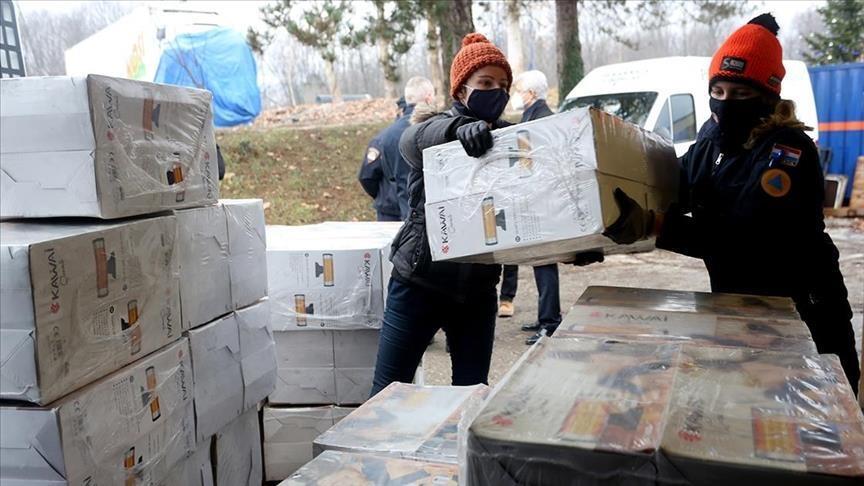 L'aide de la Turquie aux victimes du séisme en Croatie