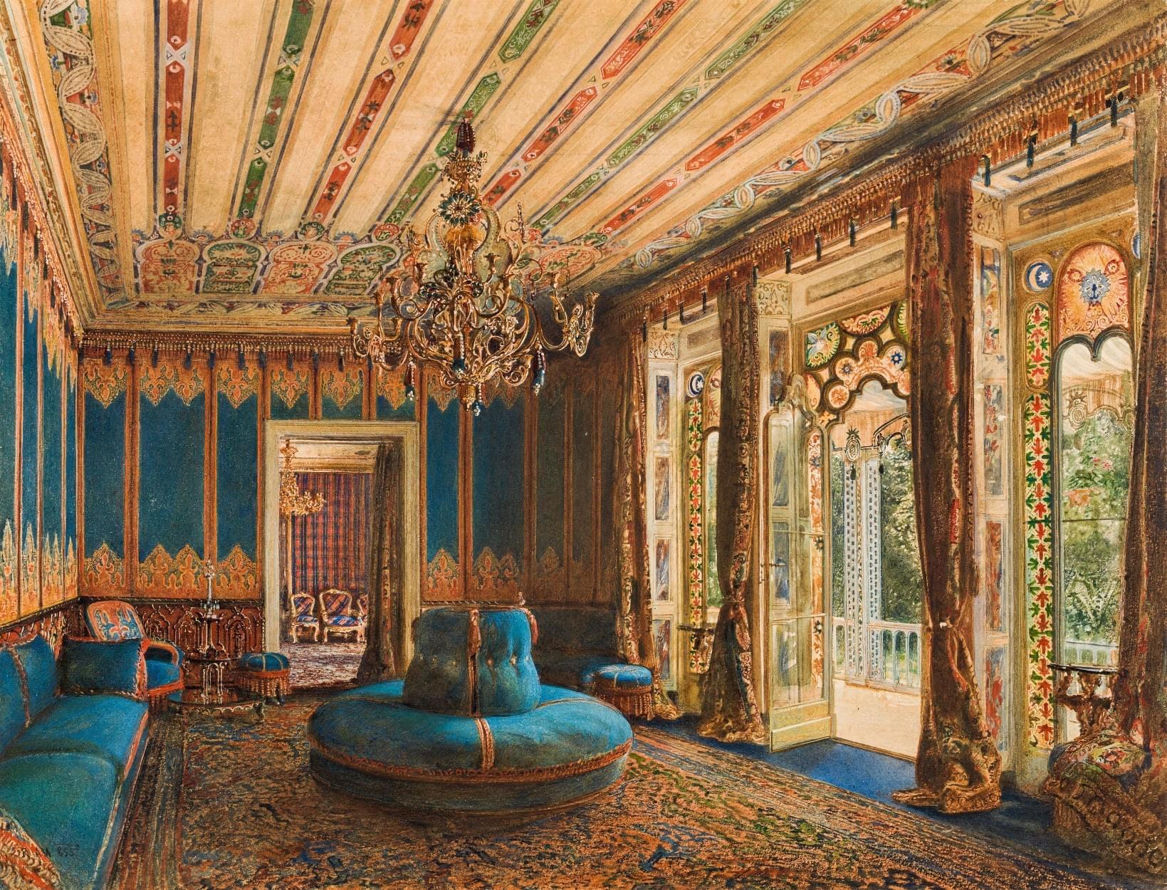 Le salon Turc de la villa Hügel