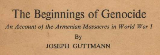 La tragédie turco-arménienne - 1915