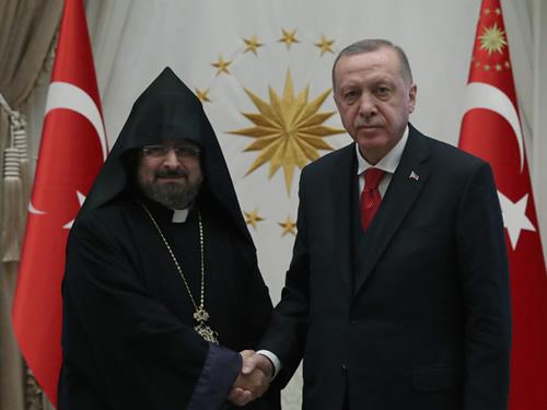 Message du président Erdoğan au Patriarche des Arméniens de Turquie, Sahak Mashalyan