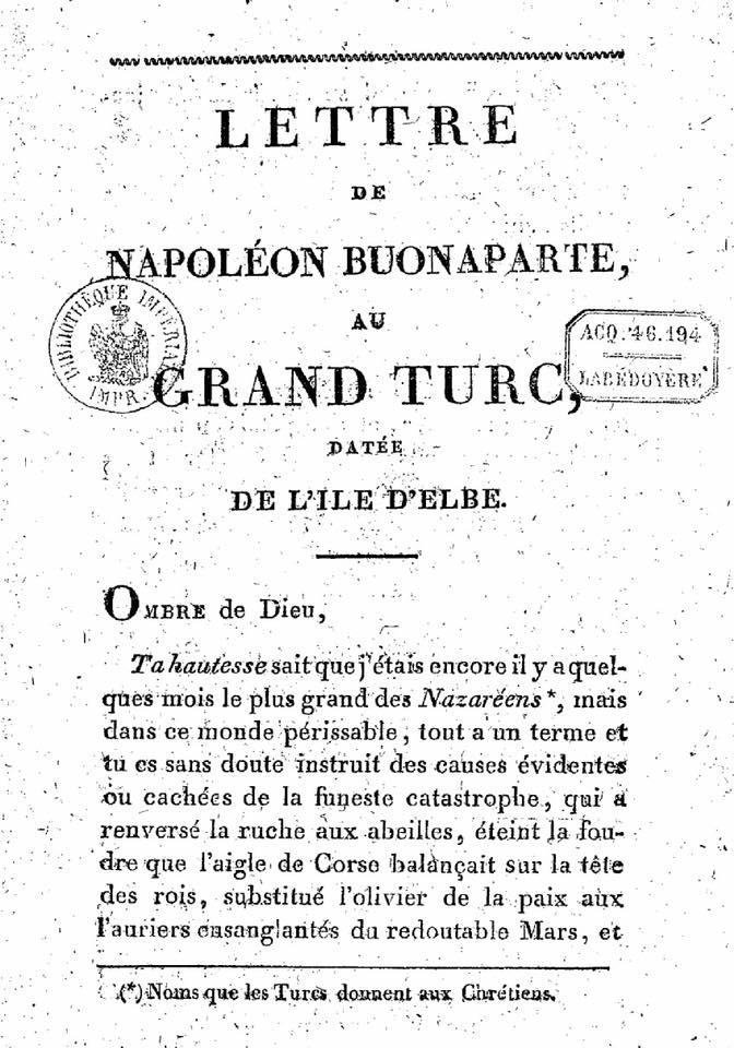 NAPOLÉON & LES TURCS