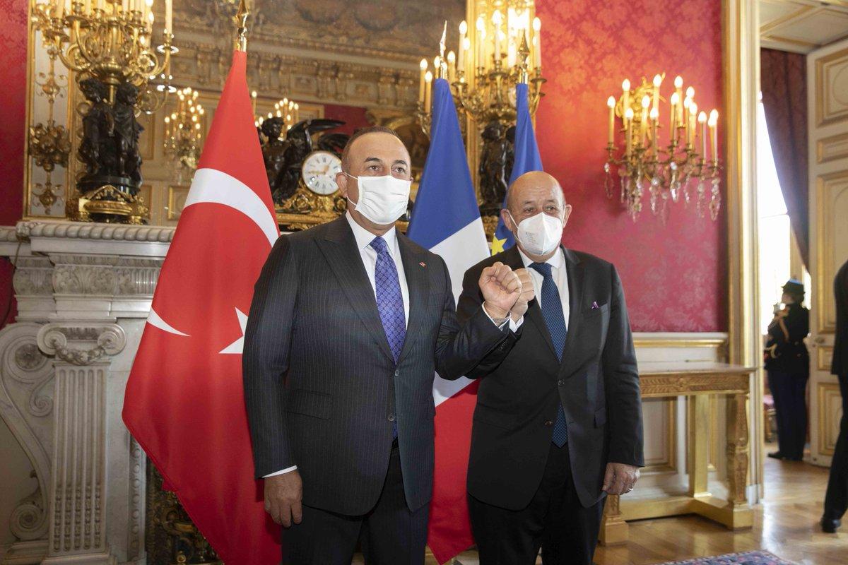 Turquie - Entretien de Jean-Yves Le Drian avec son homologue (Paris, 7.06.21)