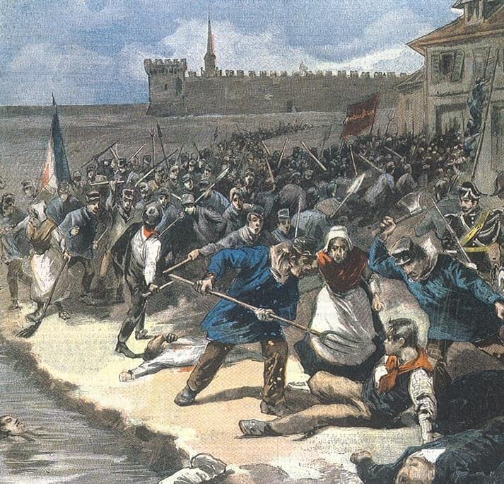 [17 août 1893] Une dizaine d'italiens furent massacrés par des ouvriers français à Aiguës-Mortes (Gard)