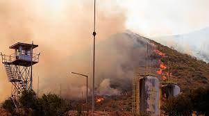 Evacuation d'une centrale thermique menacée par un incendie