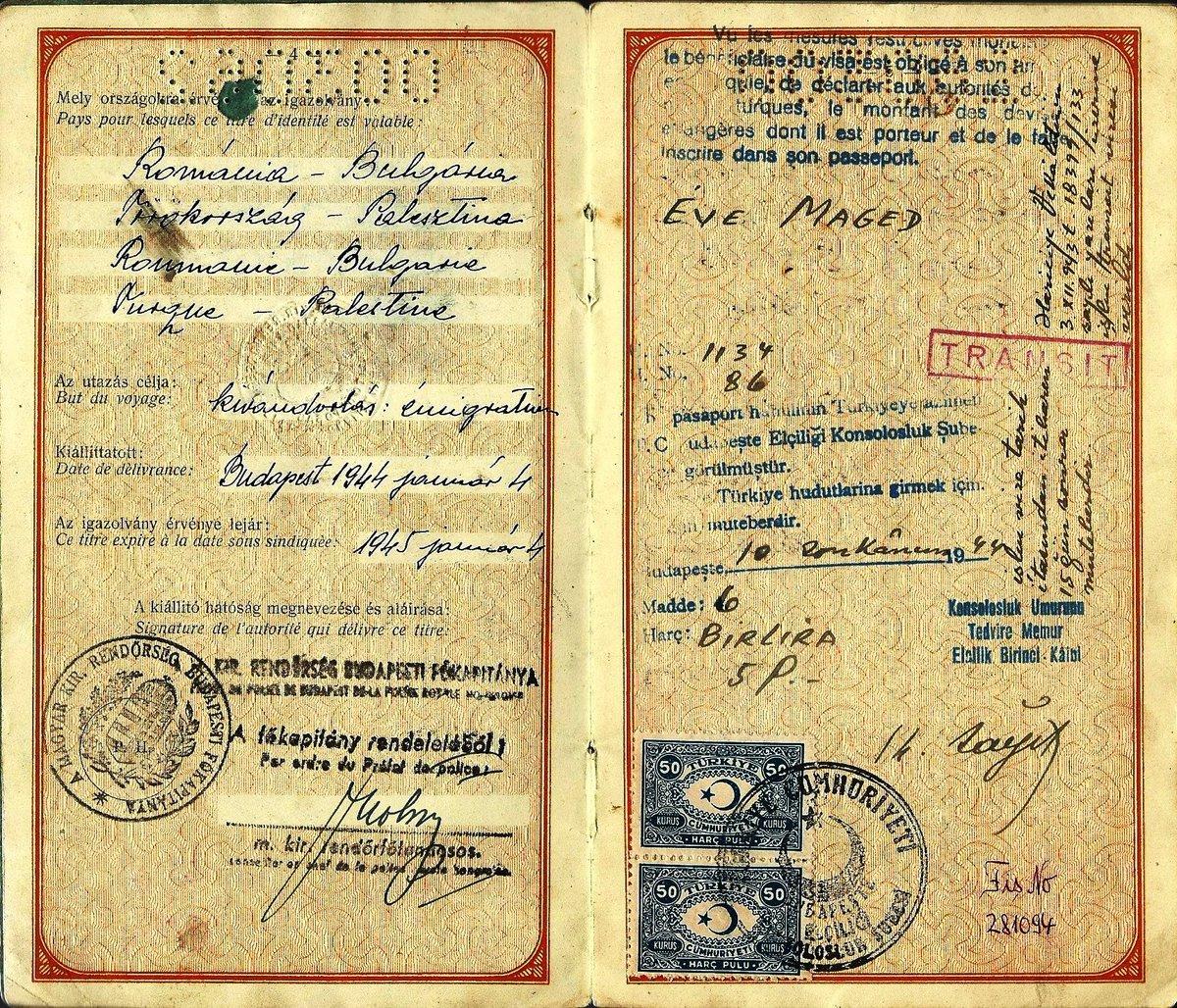 Visa turc salvateur de Budapest, 1944, délivré à une femme juive.